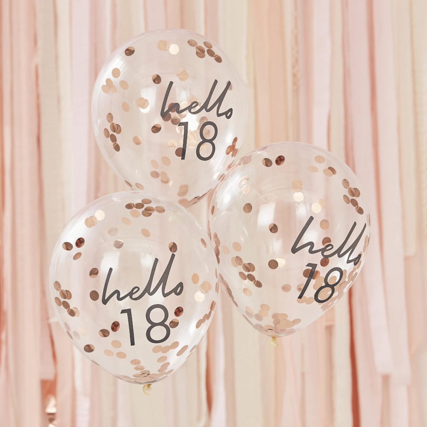 Sweet and cheap birthday balloons with confetti