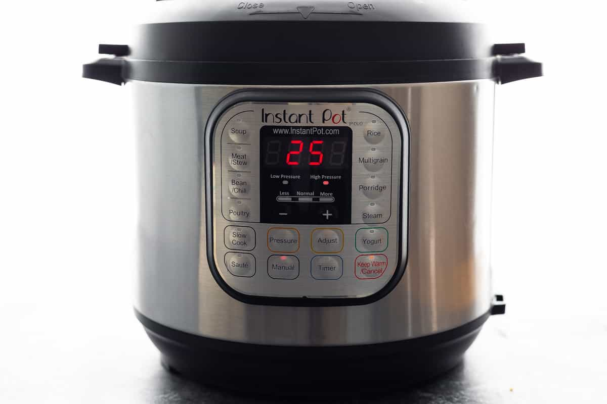 Instant Pot with 25 minute timer