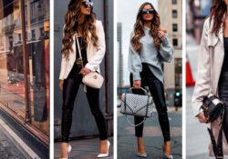 10 leather tights outfits to look sexy and formal at work