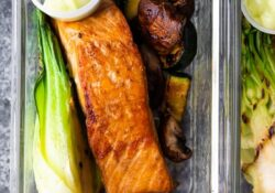Wasabi Grilled Salmon Bowls (Low Carb)
