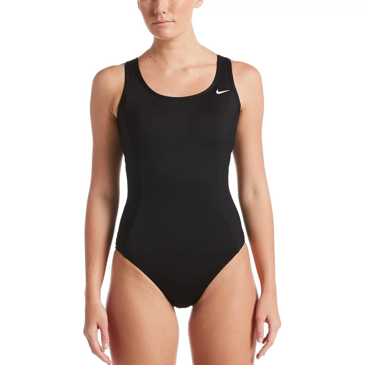 Sporty swimsuit for sagging breasts