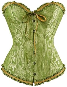 Yellow and green corset