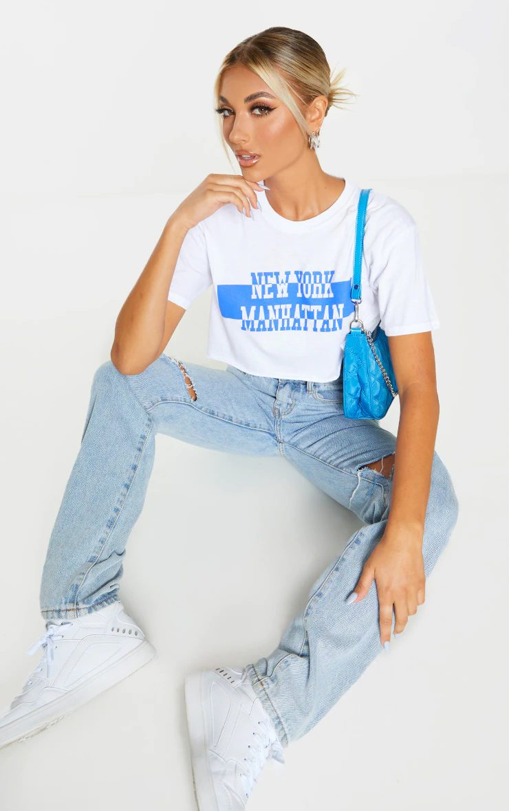 Retro inspired crop top tee for Y2k outfits