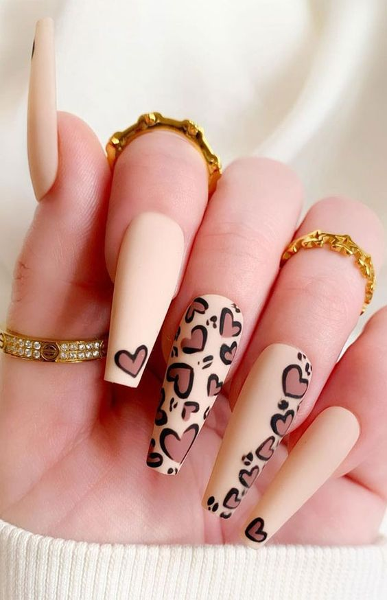 naked heart leopard nails