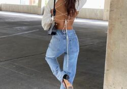 23 cool outfits with mom jeans for cozy baby