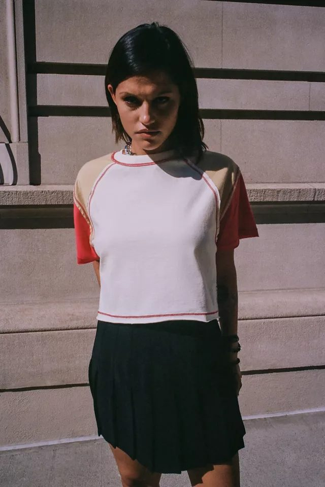 Color block crop top for school outfits