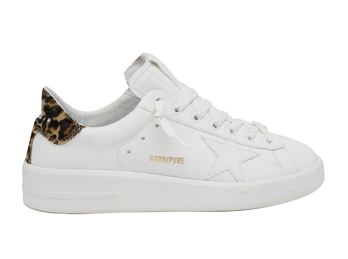 Golden Goose sneakers in white and leopard print