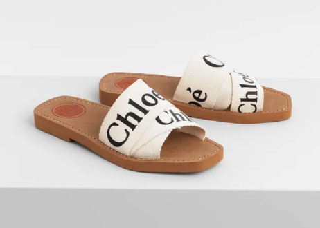 Chloe Woody Slide canvas sandals to invest in the best of designer shoes