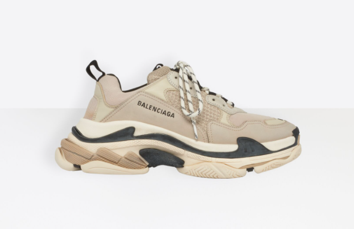 Balenciaga Triple S in beige and black to invest in the best designer shoes